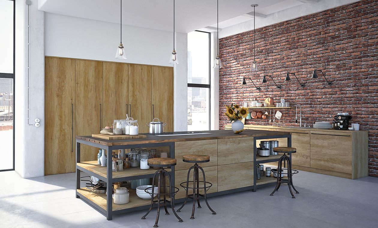 Кухни Radolad просторий лофт под заказ