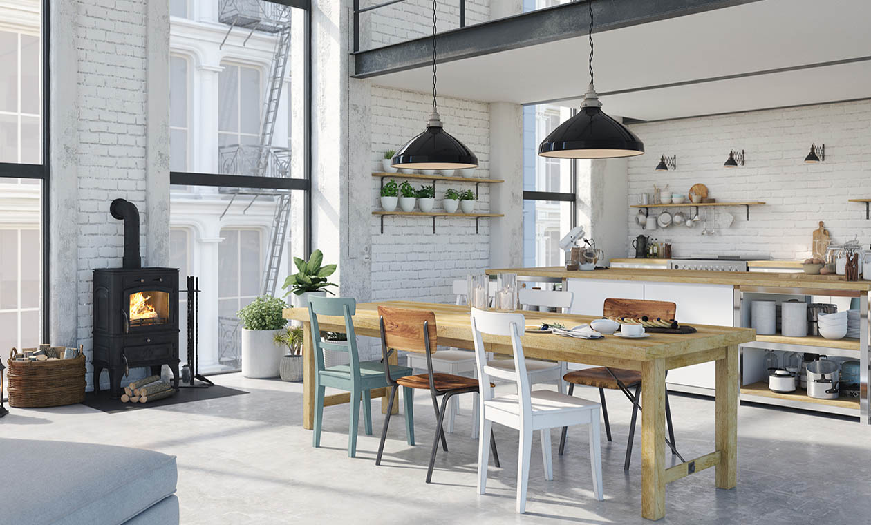 Кухня стиль просторний лофт