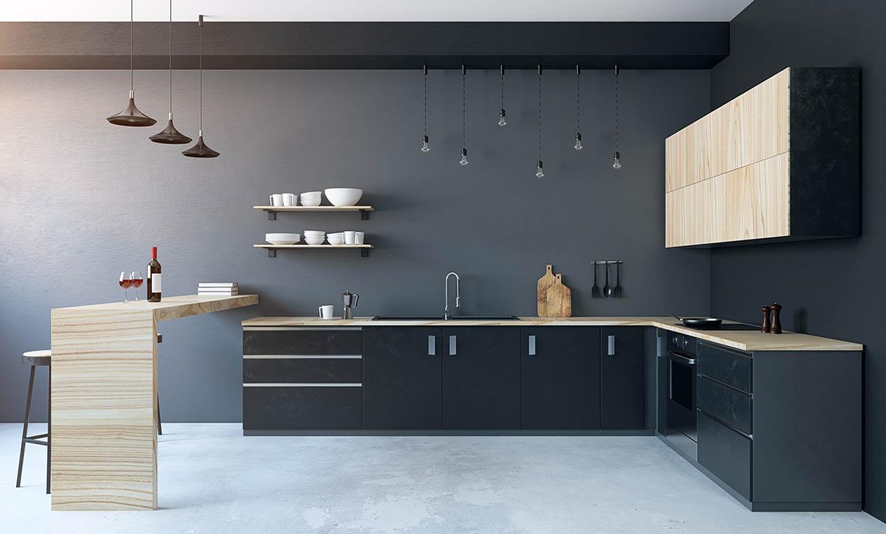 Кухня под заказ в стиле минимализма
