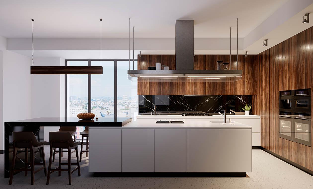 Кухня в стиле модерн Radolad